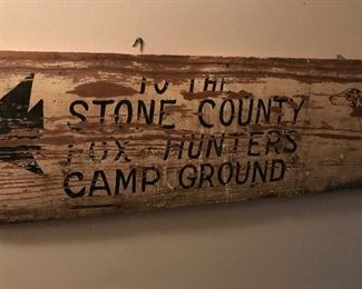 Vintage Stone County sign