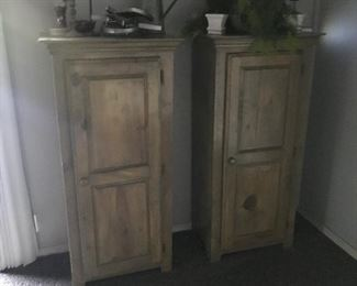 Pair of tall cabinets