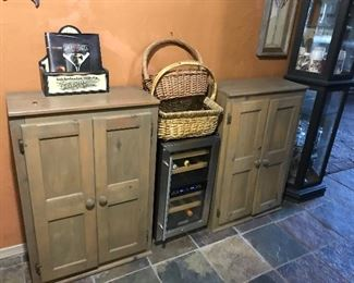 Storage cabinets and baskets