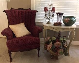Wingback and Parlor Table