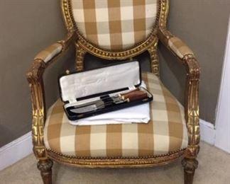 Gilded Arm Chair