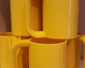 Vintage Heller by Massimo Vignelli, set of (6) plastic mugs.