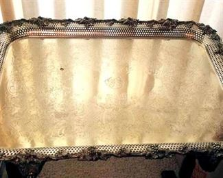 APT006 Vintage Silver Plated Serving Tray