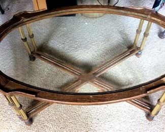 APT024 Wood & Glass Coffee Table