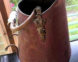 APT027 Vintage Dutch Copper Coal Scuttle