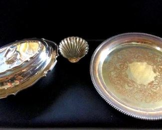APT047 Beautiful Silver Plated Serving Dishes