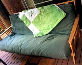 APT085 Wood Futon with Cushion