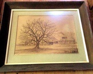 APT088 Framed Country House Sketch