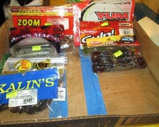 2nd Floor:  Spoongy Fishing Bait  Zoom, Yum, Bass Magic, Kalin's, Gulp, Etc.