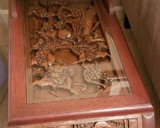 z Done EndTable1 Carved Wood