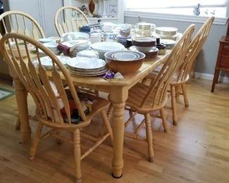 z Done White Oak Dining Set