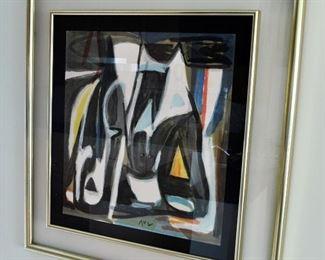 34/100  Litho by Bram Van Velde - bought in Avignon, France