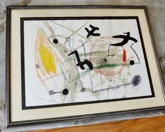 Rare lithograph by Joan Miro (Spanish, 1893-1983) Signed & Numbered  24/25     Title:   Maravillas Con Variaciones Acrosticas    Circa 1975