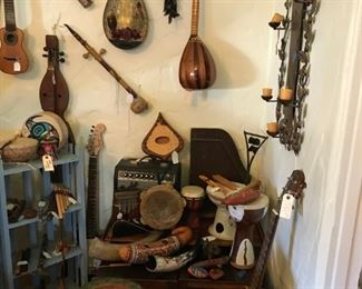 Enormous lot of eclectic musical instruments, ranging in price from $10 - $95. Come get your groove on!
