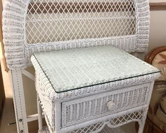 Wicker night stand