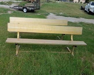 2 aluminum benches