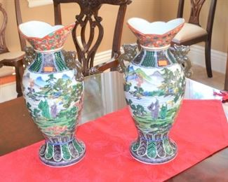 OLD ORIENTAL VASES - GREAT COLOR