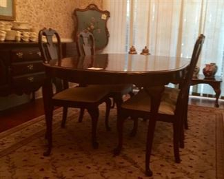 Solid Cherry Dinning Table & Chairs, China, Sideboard