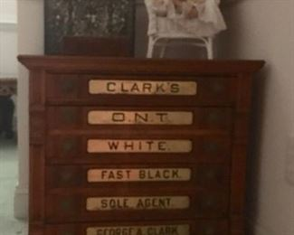 Six Drawer Spool Cabinet