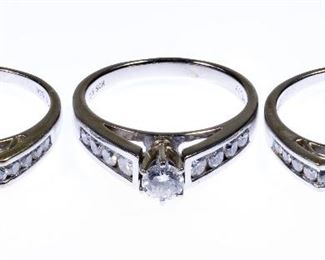 18k White Gold and Diamond Rings