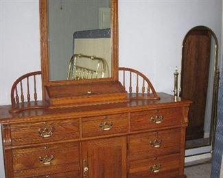Bedroom Dresser, Floor Mirror