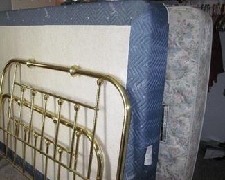 Queen Mattress Set,  Queen Brass Frame