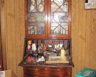 Antique Display Cabinet Secretary