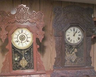 Sessions and Waterbury Mantle Clocks