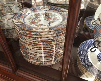 Full set of China Garden Porcelain China Japanese motif