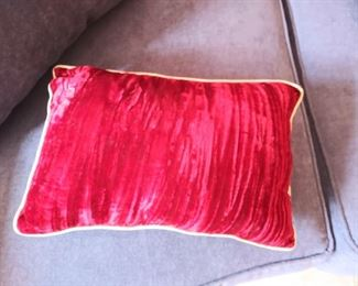 small red pillow