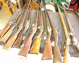 Some of the many Antique Firearms