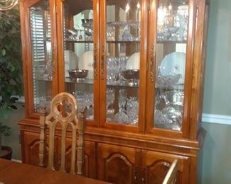 Lighted china cabinet with 4 doors, by Stanley Furniture