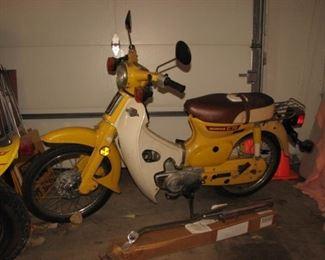 Honda C70 moped