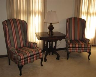 Hi-back wing chairs
