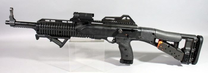 Hi-Point Firearms Model 4595 45 ACP Rifle SN# R28500, With 3 Total Mags, Mag Holder And Rail Light