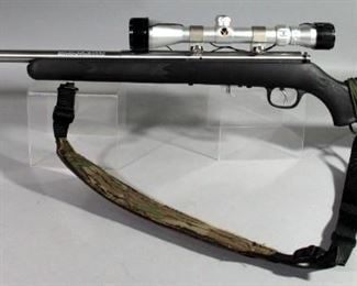 Savage Model 93 .22 WMR Bolt Action Rifle SN# 0370060, With Simmons 3-9x40 Scope, Sling And 2 Total Mags, In Soft Case