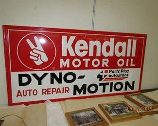 6' KENDALL Motor  Oil Sign