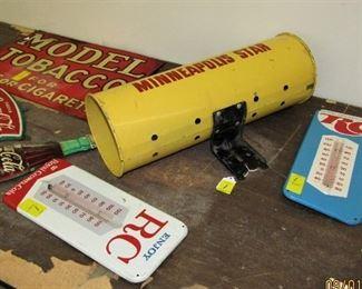 RC Cola Thermometers, MODEL Tobacco Sign & Minneapolis Star / Tribune Newspaper Box