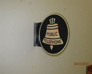 Public Telephone Booth Flange sign