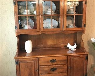 ETHAN ALLEN HITCH AND TABLE SET