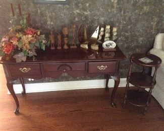 Thomasville 3 drawer sofa table 52L x 16w x 28h.