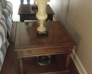 Brandt square 28 x 28 x 20h wood  side table.