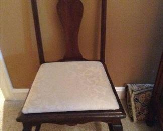 Antique desk chair.