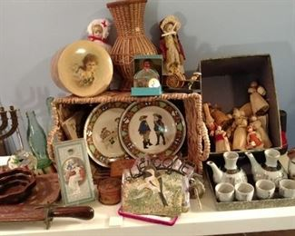 Vintage plates and collectibles