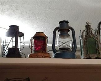 Vintage oil lanterns