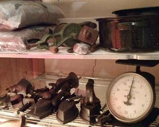 Antique vintage tools, scales