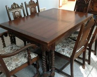 Antique European Table and Chairs from Germany