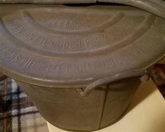 Vintage dough making pot