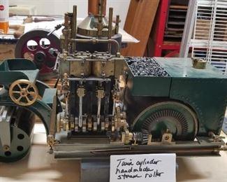 Twin Cylinder handmade steam roller