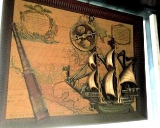 HMT011 Framed Nautical Art